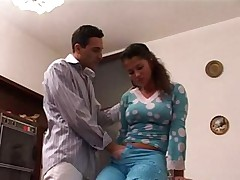 Latina sister taboo family sex with brother in front of old  -
