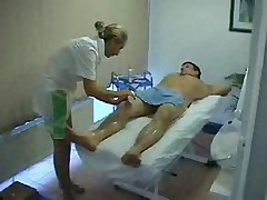 Blonde massage -