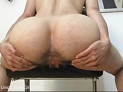 Mature amateur hairy babe hardcore butt spreading