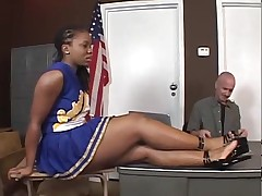 Tara - ebony cheerleader  -