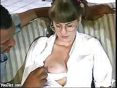 Babysitter With Pigtails Gets Fucked A Big Black Guy And A White Cock
