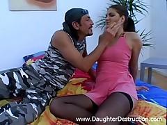 Shocking teen daughter destruction  -