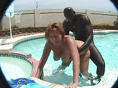 Bbw MILF in the pool -