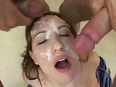 Girl gets a bukkake