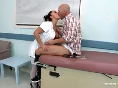 Sexy French doctor Liza Del Sierra gets humped in hot HD video