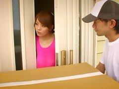 Busty Hitomi Tanaka Pink Spandex