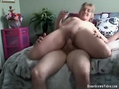 Horny Housewife Janice Takes A Creampie From Mark