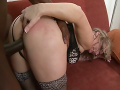 Hot mature bitch fucked hard by a big black cock