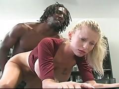 Dark monster cock drilled sweet blonde babe