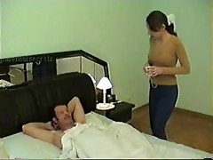 Dad fuck his daughter's friend for  breakfast