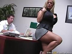 Insanely Busty Blonde Shyla Stylez Gets Anally Pounded By Her Co-worker