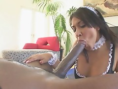 Smoking Hot House Maid Mary Jane Rides A Big Black Cock