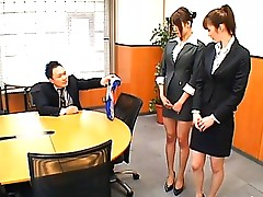 Junna Aoki hot Japanese teacher in her miniskirt and high heels
