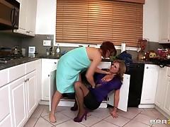 Hot Lesbian Action Between The Beautiful Milfs Nicki Hunter And Nikki Sexx