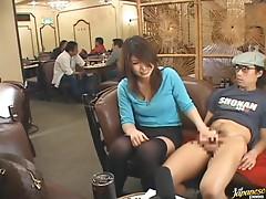 Giving a Handjob in a Restaurant