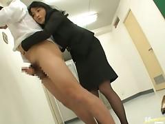 Dirty Mature Asian Giving a Hot Handjob