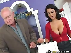 Busty Brunette MILF Sienna West Loves To Put a Big Cock In Her Boobs