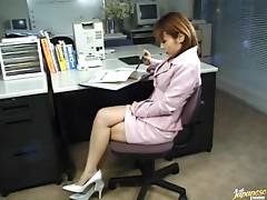 Office Masturbation With The Asian Babe Jyuri Hashimoto