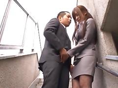 Office Babe Yuu Asakura Giving Head
