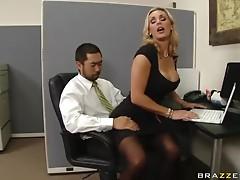 British Blonde MILF Tanya Tate Getting Fuck In The Office