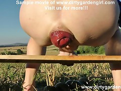 DIRTYGARDENGIRL OPEN RANGE HARD ANAL TOY FUCK AND PROLAPSE
