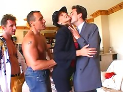 Dirty European Bitch gets her Asshole Destroyed(Double Anal)