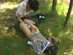 Asian Cutie Reiko Akiyama Gets An Outdoor Pounding