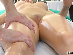 Horny Babe Takes a Massage and Some Rough Sex