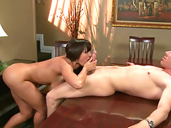 Big Tittied MILF Lisa Ann Fucked During Dinner