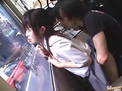 Teen Schoolgirl Lifts Her Skirt For Sex On A Public Bus
