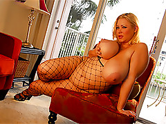 BBW Blonde Babe Sucks Cock and gets Fucked Wearing Lingerie