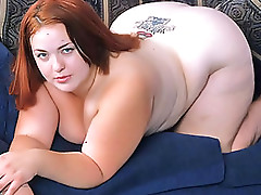 Interracial Action With a BBW Redhead Babe