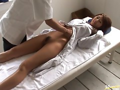 Yuna Momose Gets a Massage and a Hardcore Fuck