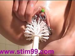 Toilet Brush Hardcore Fucking Pussy Masturbation Bizarre Toy
