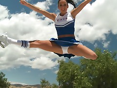 Slutty MILF Alektra Blue Gets Fucked Outdoors In a Cheerleader Uniform
