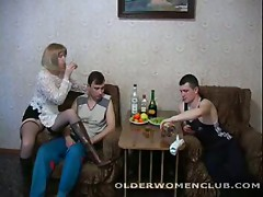 Amanda - Drunk mature woman boozed