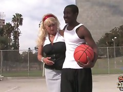 Ive been watching the basketball courts in the hope that I would find a black stud to take home before my kids got back from school. Today, I came across a young black guy shooting hoops and his back gave out on him. I took him to my place to massage the