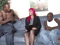 Perfect mature slut Raven Black owned by 3 blacks