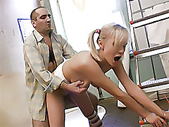 Cute Blonde Teen Fucked Hard By an Old Man