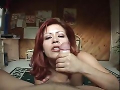 Big Titty Red Head Cum Shot