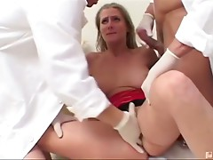 Jane is having issues with her breasts, so she heads to the doctor. Luckily, it's nothing that can't be cured through a little ass fucking and a double dose of jizz!