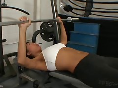 Cute Asian Fucked Hard in Gym !