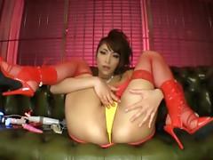Solo Play Of Crazy Kokomi Sakura Has Her Stuffed With Toys