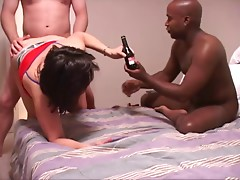 Big Tit Mature Latina MILF Gets Anal Tag Teamed