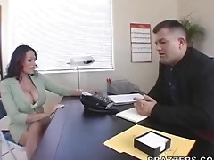 Boss fuck Big tits at work place