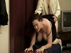 Big tit amateur woman gets it hard