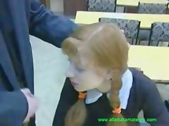 Teen with teacher