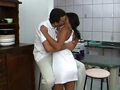 Big Booty Brazil Teen Girl Has Amazing Anal Sex In Kitchen