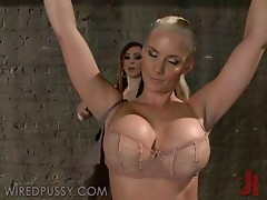 Busty Brunette Has A First Hand Experience With Femdom Games
