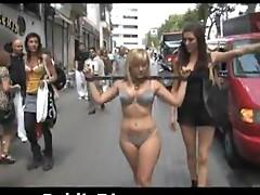 BDSM Walk With A Gorgeous Blonde In Smoking Hot Underwear